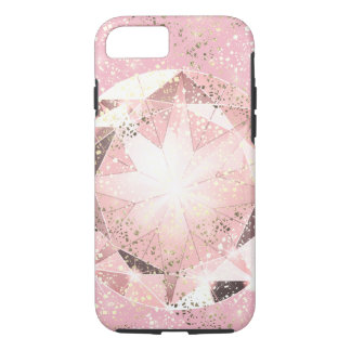 Pink Diamond on Light Pastel with Gold Sparkle iPhone 7 Case