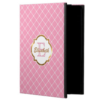 Pink Diamond Pattern, Faux Gold Foil, Personalized Powis iPad Air 2 Case