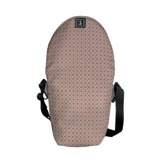PInk Diamond Pattern Messenger Bags
