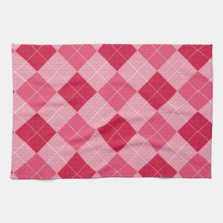 Pink Diamond Plaid Hand Towel