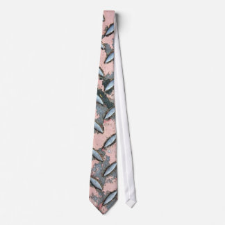 Pink Diamond Plate Metal Tie