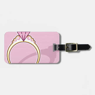 Pink Diamond Ring Luggage Tag
