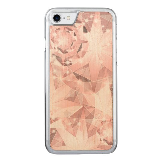 Pink Diamond Sparkle on Light Pastel Brilliant Carved iPhone 7 Case