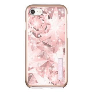 Pink Diamond Sparkle on Light Pastel Brilliant Incipio DualPro Shine iPhone 8/7 Case