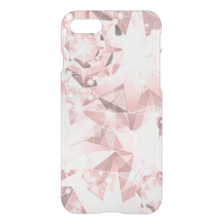 Pink Diamond Sparkle on Light Pastel Brilliant iPhone 8/7 Case
