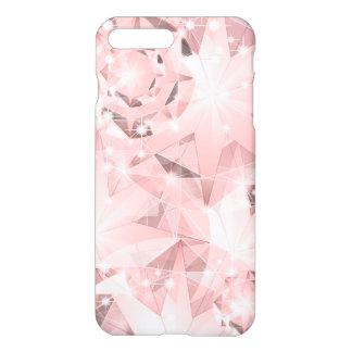 Pink Diamond Sparkle on Light Pastel Brilliant iPhone 8 Plus/7 Plus Case