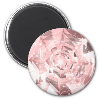 Pink Diamond Sparkle on Light Pastel Brilliant Magnet