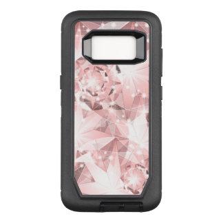 Pink Diamond Sparkle on Light Pastel Brilliant OtterBox Defender Samsung Galaxy S8 Case