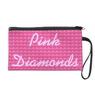 Pink Diamonds Boss Lady Bagettes Bag Wristlet Purses