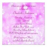 Pink Diamonds Bridal Shower Personalized Announcement
