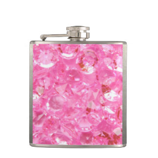 Pink Diamonds Hip Flask