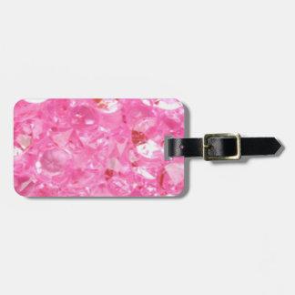 Pink Diamonds Luggage Tag