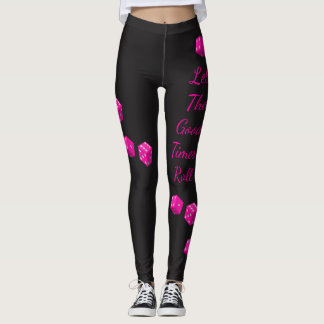 Pink Dice Let the Good Times Roll Any Color Leggings
