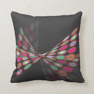 Pink Digital Butterfly Graphics Art Pillow Cushion