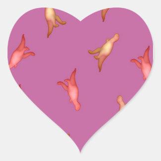Pink Dino Heart Sticker