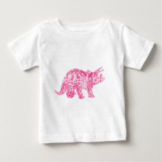 Pink dinosaur for jurassic park and ancient world baby T-Shirt