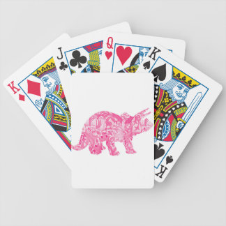 Pink dinosaur for jurassic park and ancient world bicycle playing cards