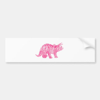 Pink dinosaur for jurassic park and ancient world bumper sticker