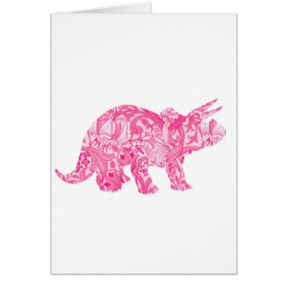 Pink dinosaur for jurassic park and ancient world card