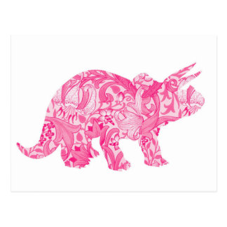 Pink dinosaur for jurassic park and ancient world postcard