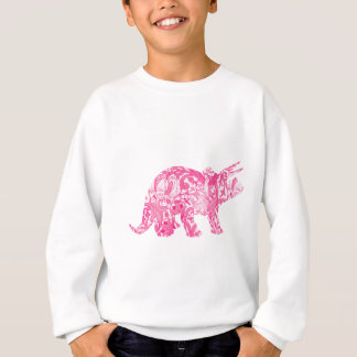 Pink dinosaur for jurassic park and ancient world sweatshirt