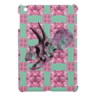 Pink Dinosaur Skull Geometric Pattern Cover For The iPad Mini