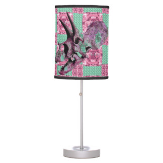 Pink Dinosaur Skull Geometric Pattern Lamp