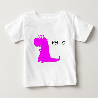 Pink Dinosaur T-Rex Baby T-Shirt