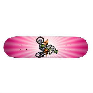 Pink Dirt Bike. Skateboard Decks