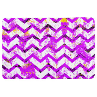 Pink Distressed Chevron Floor Mat