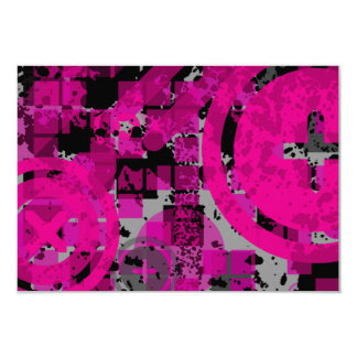 pink distressed chex : card