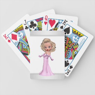 Pink Diva Bicycle Playing Cards