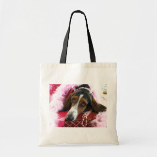 Pink Diva Dog Tote Bag