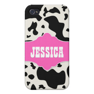 Pink Divine Bovine iPhone 4 Case