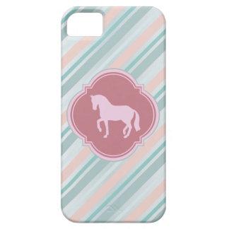 Pink Divine Equine Striped iPhone 5 Case Mate