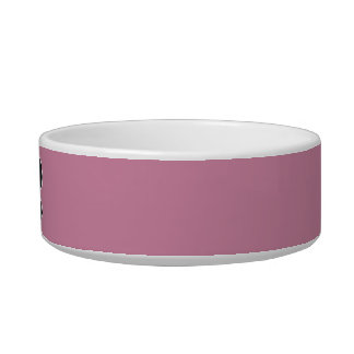Pink Dog Bowl with Bone