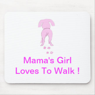 Pink Dog Ears Down Mama's Girl Mouse Pad
