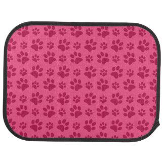 Pink dog paw print car mat