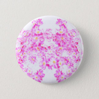 Pink Dogwood Blossom 2 Inch Round Button