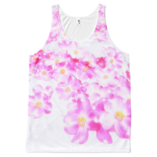 Pink Dogwood Blossom All-Over-Print Tank Top