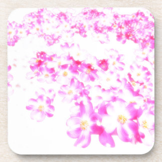 Pink Dogwood Blossom Coaster