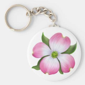 Pink Dogwood Blossom Keychain