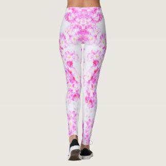 Pink Dogwood Blossom Leggings