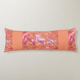 Pink Dogwood Blossom Maternity Pillow