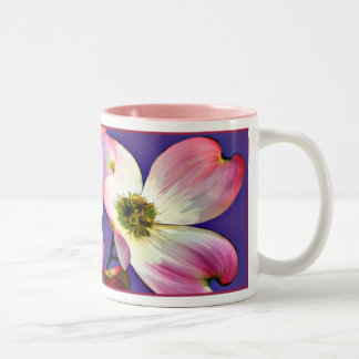 Pink Dogwood Blossoms Two-Tone Coffee Mug