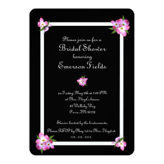 Pink Dogwood Bridal Shower Invitation