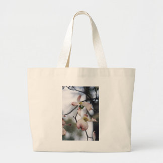 Pink Dogwood Canvas Bag