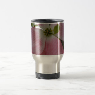 Pink Dogwood Flower Travel Mug