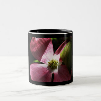 Pink Dogwood Flower Two-Tone Coffee Mug