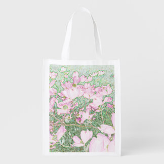 Pink Dogwood Reusable Bag